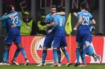 Los 'gunners' vencieron por 2-0 a los 'rossoneros' en el estadio San Siro. Foto: AFP
