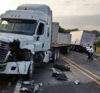El accidente provocó gran congestionamiento a la altura de el PAN, Yaguachi. Foto: referencial