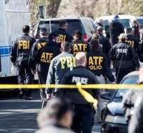La Policía trabaja luego de que dos paquetes bomba explotaran en Austin, Texas. Foto: AP.