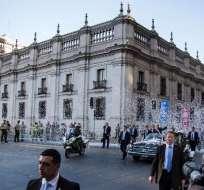 """Piñera anunció que realizará """"una profunda modernización de Carabineros y la Policía de Investigaciones (civil)"""". Foto: AFP"""