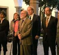Mandatario Moreno e integrantes de organismo se reunieron en Carondelet. Foto: Twitter Cpccs Transitorio