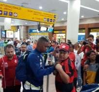 El plantel de Flamengo ya está en Guayaquil para juego con Emelec por la Libertadores.