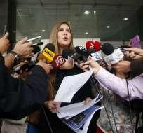 """""""Mal haría en continuar ella como fiscal subrogante de la nación"""", manifestó la asambleísta Cristina Reyes. Foto: API"""