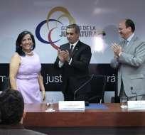 Jalk y Baca el día de la posesión de Moreno como fiscal subrogante. Foto: Flickr Judicatura.