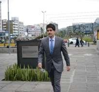 Adrián Bustos no dio declaraciones a la prensa tras su versión. Foto: API