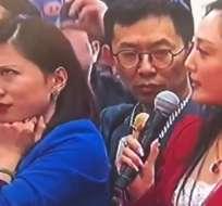 La periodista causó sensación. (Foto: Weibo)