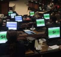 Tras aprobación, Legislativo suspendió la sesión en la que debía votar las reformas al Cpccs. Foto: API