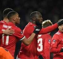 El belga Romelu Lukaku abrió el marcador para los 'diablos rojos' en Old Trafford.