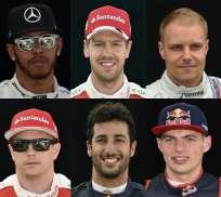 El piloto británico (i.) ganó el campeonato mundial de 2017. Foto: AFP