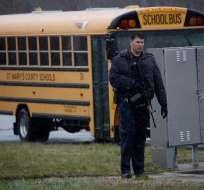 Tiroteo en colegio en EE.UU. dejó un muerto y dos heridos. Foto: AFP