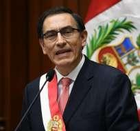 Martín Vizcarra jura como nuevo presidente de Perú. Foto:AFP