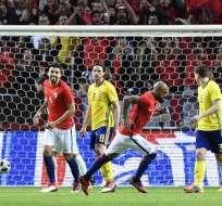 Arturo Vidal marcó un golazo en la victoria de Chile sobre el combinado sueco.