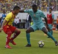 Barcelona salvó el invicto en el Gonzalo Pozo ante Aucas por el torneo local.
