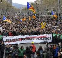 """La justicia imputó el viernes por """"rebelión"""" a Puigdemont y otros 12 independentistas. Foto: AFP"""