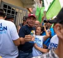 El opositor Henri Falcón busca con las elecciones destronar al presidente Nicolás Maduro. Foto: AFP