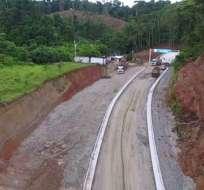 El puente de Mataje es una de esas estructuras que permanecen inconclusas. Foto: Archivo