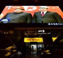 Video de la reunión entre el líder norcoreano Kim Jong Un y el presidente de China, Xi Jinping. Foto: AFP