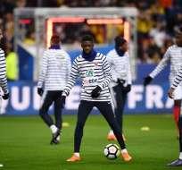 Ousmane Dembélé sufrió gritos racistas en el amistoso ante Rusia. Foto: AFP