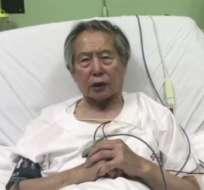 Fujimori fue internado la noche del miércoles en la clínica peruano-japonesa Centenario. Foto: Facebook / andina.pe
