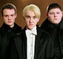Joshua Herdman (Goyle), Tom Felton (Draco) y Jamie Waylett (Crabbe). Foto: Tomada de T13 CL.