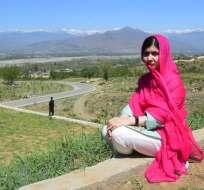 Malala en su ciudad natal. Foto: AFP
