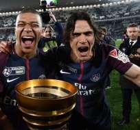 El equipo parisino venció en la final al Mónaco por 3-0. Foto: AFP