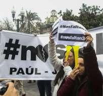 QUITO, Ecuador.- Este lunes se cumple una semana del secuestro de los comunicadores en la frontera norte. Foto: API