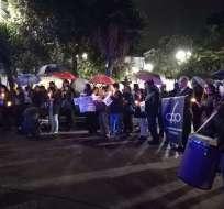 Familiares y amigos exigen su libertad durante séptimo día de vigilia. Foto: Twitter @MaGa_EG