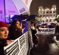 Vigilia realizada la noche del martes 3 de abril de 2018 en la Plaza Grande, frente a Carondelet. Foto: @aprado1968