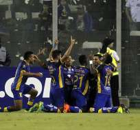 El equipo manabita venció 2-0 al 'cacique' y sueña con pasar de ronda en la Libertadores. Foto: CLAUDIO REYES / AFP