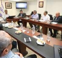 Presidente Moreno se reunió con Asociación Ecuatoriana de Radiodifusión, núcleo del Guayas. Foto: Twitter Presidencia