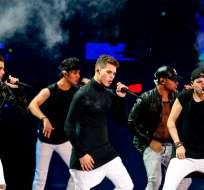 CNCO durante su actuación en el Festival Internacional de la Canción de Viña del Mar, en Chile. Foto: AP.