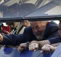 Expresidente permanece en un sindicato en Sao Paulo, donde están sus simpatizantes. Foto: AFP