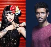 Los artistas se presentarán en Guayaquil y Quito este 7 de abril. Foto: Collage Universal Music.