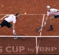 Jan-Lennard Struff y Tim Puetz le dieron el segundo punto a Alemania tras ganar el partido de dobles a España.