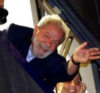 """""""Si Dios quiere, quién sabe, la semana que viene estaremos juntos"""", dijo Lula en video. Foto: AP."""