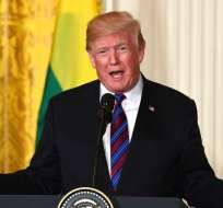 El mandatario también criticó este domingo a su predecesor Barack Obama. Foto: AP.