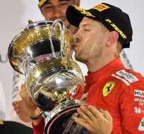 El alemán Sebastian Vettel ganó el Gran Premio de Baréin en su carrera 200 en la F1.