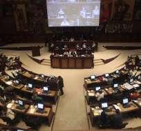 QUITO, Ecuador.- Los legisladores definirán varias comparecencias, entre ellas la del frente de seguridad. Foto: API