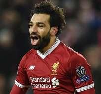 El egipcio Mohamed Salah es duda para la vuelta por cuartos de final de Champions.