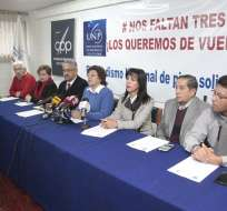 Piden que los gobiernos de Ecuador y Colombia se unan para traer de vuelta a periodistas. Foto: API