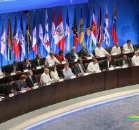 El primer mandatario a llegar fue el de República Dominicana, Danilo Medina. - Foto: Alba