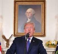 WASHINGTON, EE.UU.-Trump autorizó ataques sobre territorio sirio. Foto: AFP.