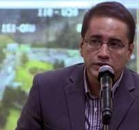 Polivio Vinueza, jefe de la Unase, realizó una cronología de los hechos desde el secuestro. Foto: Tomada de www.andes.info.ec
