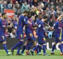 El ´Barca´ venció 2-1 al Valencia en el Camp Nou. Foto: LLUIS GENE / AFP