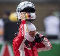 El piloto alemán busca su tercera victoria seguida del año. Foto: Johannes EISELE / AFP