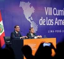 Países firmaron una declaración el sábado al cierre de la Cumbre de las Américas. Foto: AFP