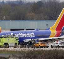 Boeing 737 que viajaba con 144 pasajeros y cinco tripulantes tuvo falla en motor izquierdo. Foto: AFP
