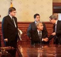 Presidente Moreno se reunió en Carondelet con diplomáticos de varios países. Foto: API