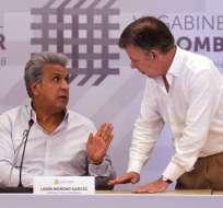 Presidente Lenín Moreno ordena frenar las conversaciones con el ELN. Foto: Archivo - Ecuavisa